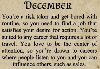 Career born in December